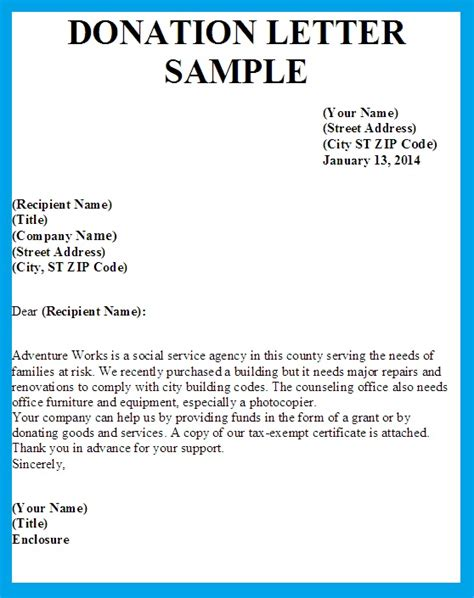 Writing Business Letter Asking For Donations letter asking for donations writing professional letters