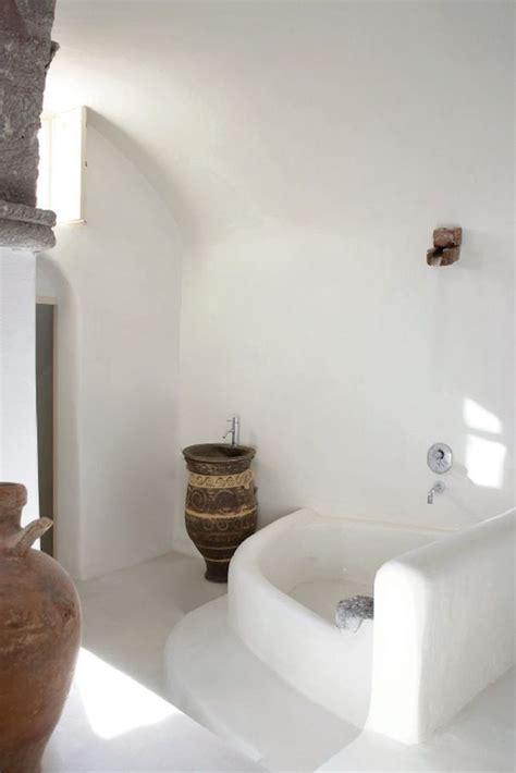 greek bathtub white greek moroccan ethnic style concrete bathroom round