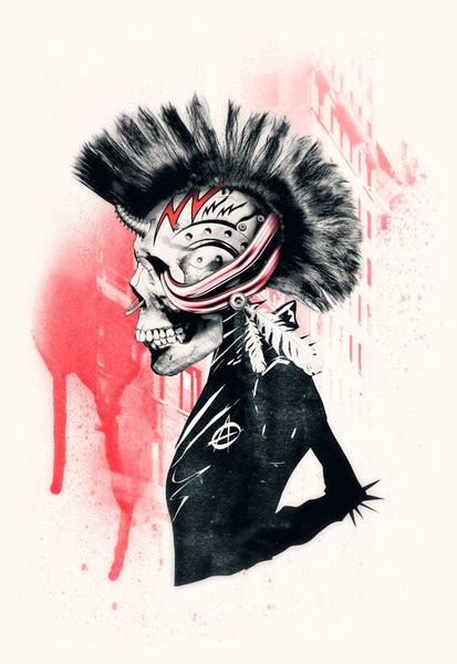 ali gulec tattoo punk art print by ali gulec society6