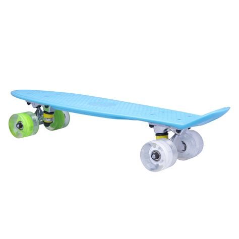 penny board light up wheels penny board worker sturgy 22 quot with light up wheels