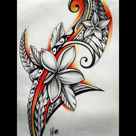 samoan flower tattoo designs flower drawing at getdrawings free for