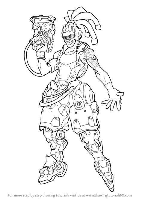 overwatch coloring book overwatch genji coloring pages coloring pages