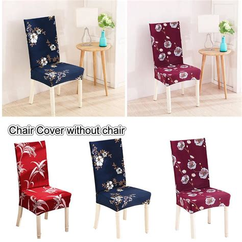 dining room stretch chair cover big elastic seat chair
