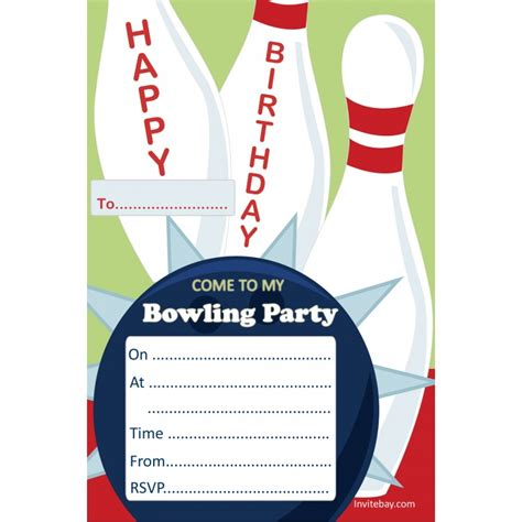 free bowling invitation template 9 best images of blank printable bowling birthday