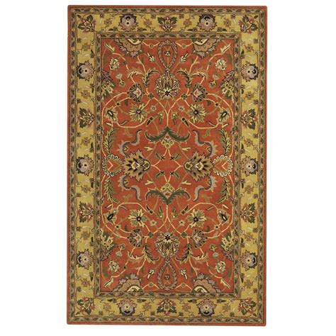 decorators collection rugs home decorators collection constantine rust 9 ft x 13 ft area rug 3151940130 the home depot