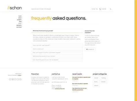 themeforest faq schon responsive modern html template by uxbarn