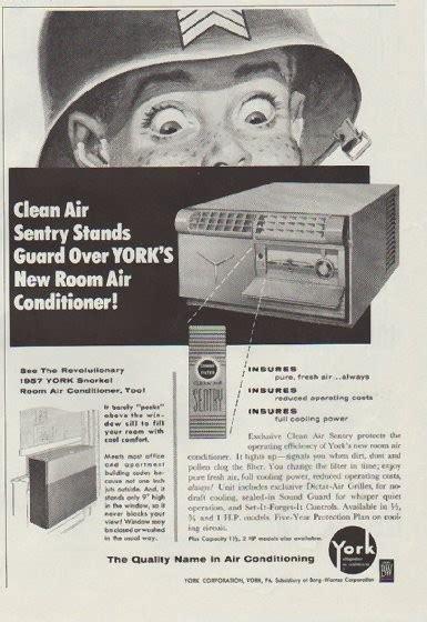 york air conditioning vintage ad clean air sentry