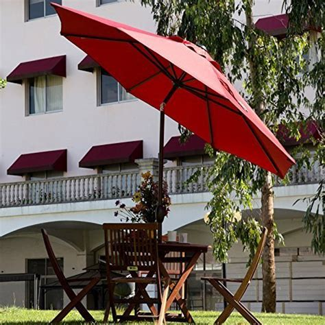 Patio Umbrellas Outdoor Function And Fashion Teak Abba Patio Abba Patio 9 Ft Market Outdoor Aluminum Patio