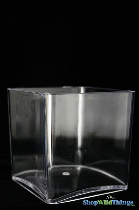 Acrylic Vases by Plastic Acrylic Vases Square Cube 4 Inches Supply