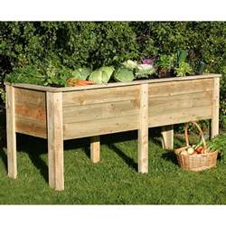 zest 4 leisure 1 8m root wooden raised vegetable bed