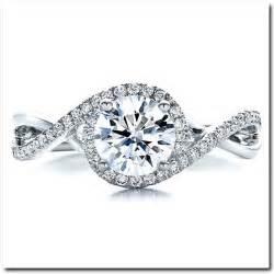 halo wedding rings halo setting engagement ring