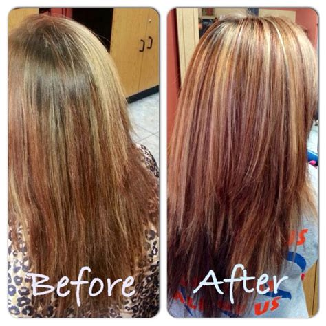 blonde red haircuts red and blonde highlights hairstyles pinterest