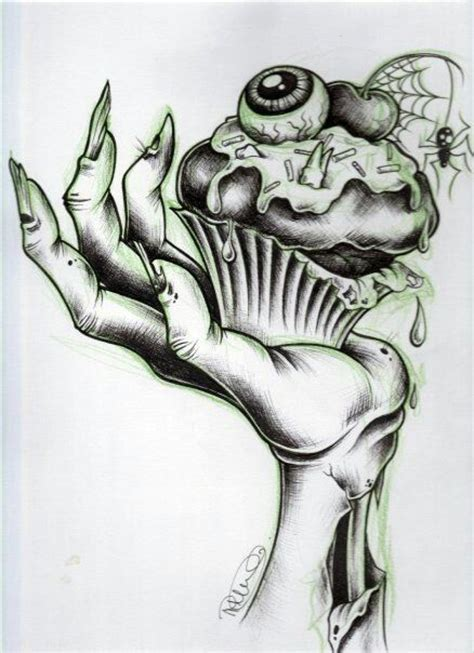 design art zombie zombie cupcake zombie hand tattoo idea tattoos