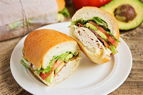 the baker upstairs turkey club picnic sandwiches