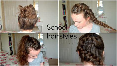 4 back to school heatless hairstyles 4 heatless cute braid back to school hairstyles youtube