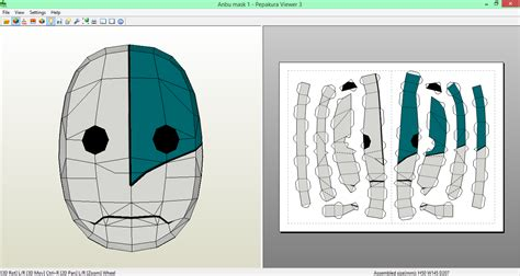 Anbu Mask Papercraft - anbu mask papercraft by sibor270898 on deviantart
