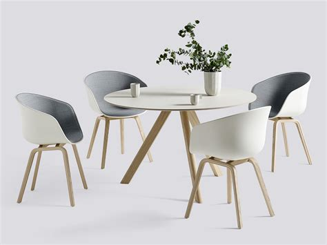 Oak Dining Room Buy The Hay Copenhague Round Table Cph20 With Oak Base At