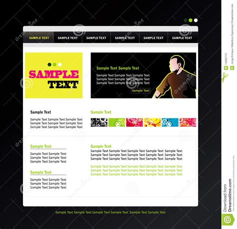 Website Profile Template Stock Photography Image 14282772 Profile Website Template