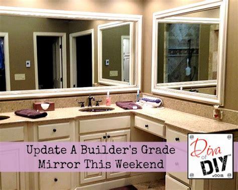 builder grade bathroom mirror update your builder s grade bathroom mirror