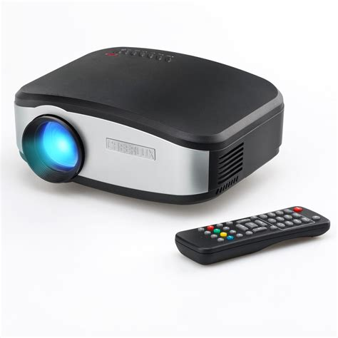 Cheerlux C6 Hd Mini Portable Led Projector 1200 Lumenstv Tunner cheerlux c6 mini lcd portable led projector 1080p hd