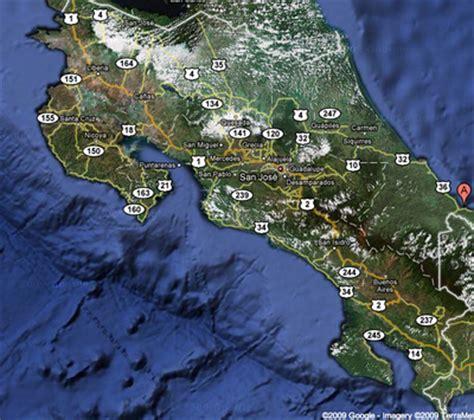 imagenes satelitales de nicaragua en tiempo real costa rica satelite map costarica information com