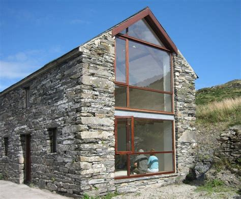 stone and glass house designs county cork painter s studio local barn renovation ireland and barn