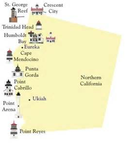 northern ca lighthouses lighthouse maps