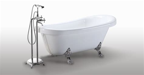 Freestanding Faucet For Clawfoot Tub by Helixbath Delos Freestanding Acrylic Clawfoot Bathtub 67