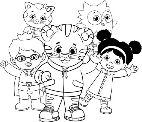 free printable coloring pages of daniel in the lion s den 12 free printable daniel tiger s neighborhood coloring