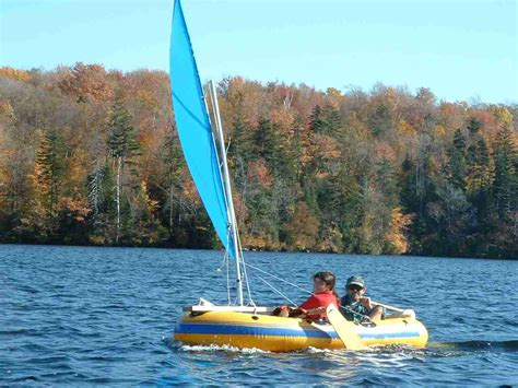 homemade sail for inflatable boat sailboats to go 187 catalog 187 diy plans canoe sailing rig