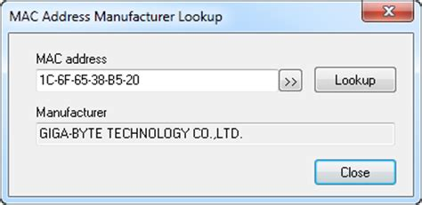 Lookup Manufacturer By Mac Address Change Mac Address Screenshots Lizardsystems