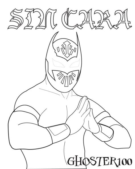 free coloring pages of sin cara cc