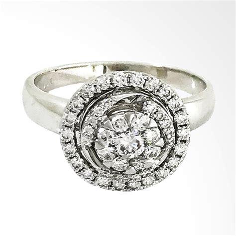 Cincin Emas Putih Dengan Berlian Eropa Jual Lavish R15578 Cincin Berlian Eropa Emas Putih 18k