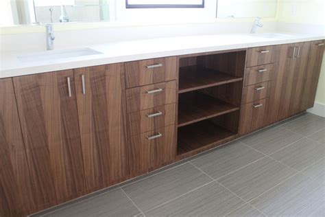 Ikea Kitchen Cabinets For Bathroom Vanity Walnut Ikea Bathroom Contemporary Bathroom Los Angeles By Semihandmade