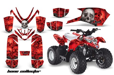 Big Racing Bike Aufkleber by Atv Quad Graphic Sticker Kit For Polaris Predator 50