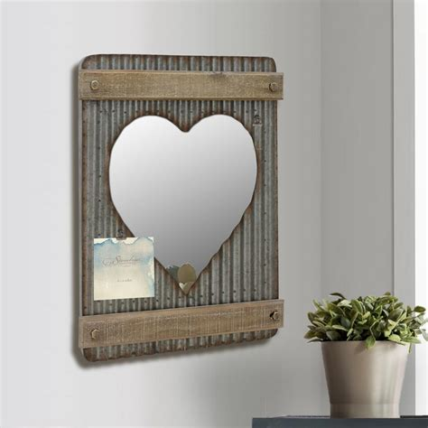 stonebriar collection 15 in x 20 in silver corrugated