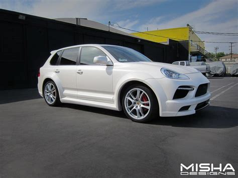 porsche cayenne matte white misha designs introducing cayenne 955 957 gtm wide body