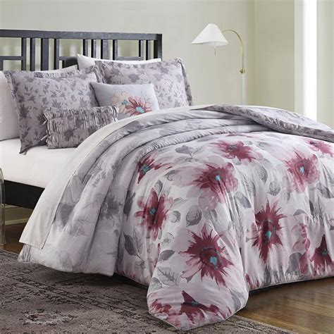 essential home comforter set essential home 5 piece comforter set minka floral home
