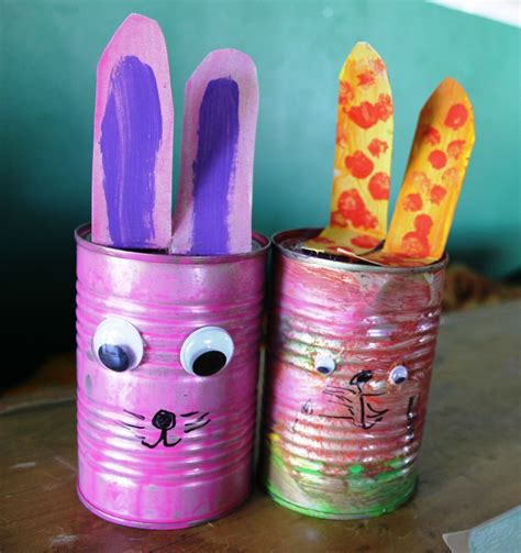 How To Decorate Home Cheap Recycled Bunny Easter Decorations My Kid Craft