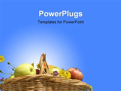 nutrition powerpoint template best powerpoint template collection of fruits in basket