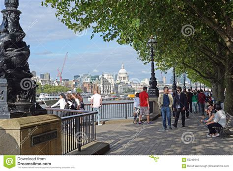 thames river walk london the queens walk london editorial photo image 59319946