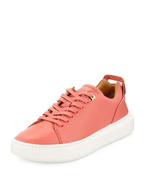 buscemi sneakers womens buscemi s 50mm leather low top sneaker in pink lyst