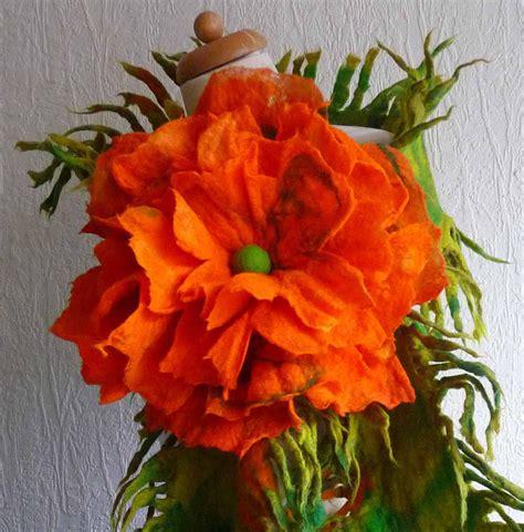 Handmade Woolen Flowers - felted flower corsage pin brooch handmade felted wool
