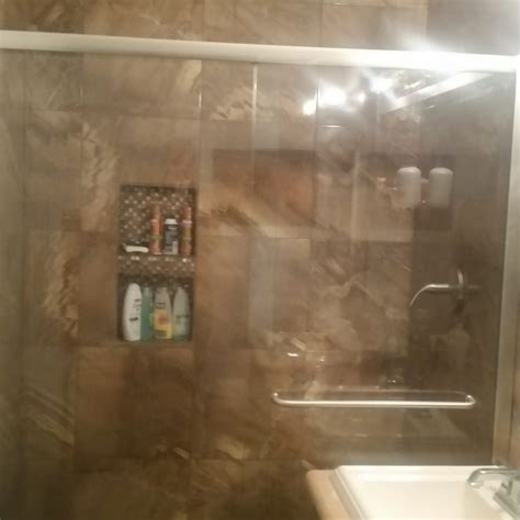 i the modern look of my new walk in shower thanks