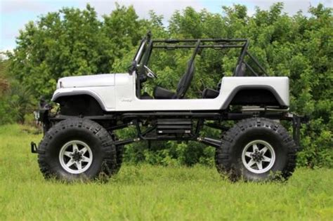 Jeep Cj7 Insulator Silver Alum purchase new cj7 jeep custom 79 lifted extended big block silver boggers buggy frame in pompano