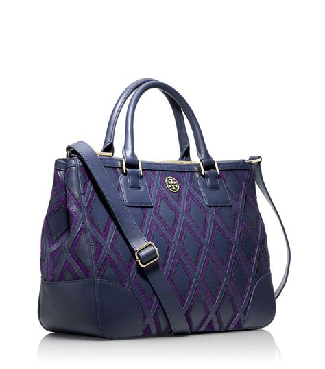 Burch Robinson Patchwork - burch robinson patchwork zip tote in blue lyst