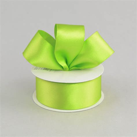 1 5 quot double face satin wired ribbon lime green 10 yards