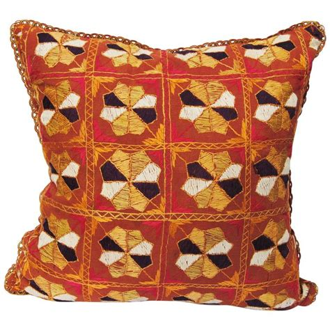 Customized Pillows India by Custom Pillow Cut From A Vintage Phulkari Wedding Shawl