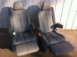 reclining van seats new captain chair bucket seats leather recliner rv van ebay