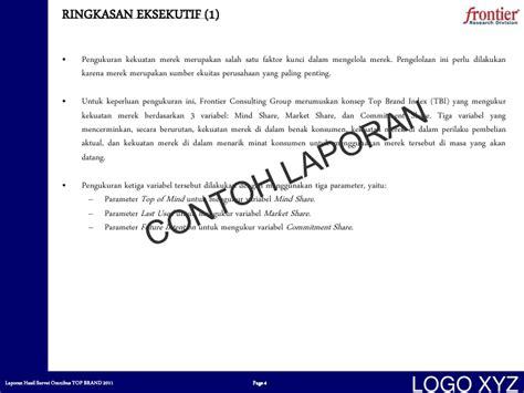 format laporan riset contoh laporan top brand 2011